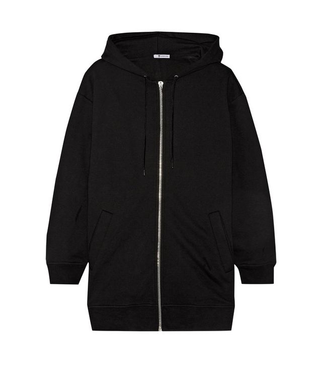 T by Alexander Wang Oversized French Cotton-Blend Terry Hooded Top