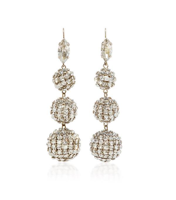 Isabel Marant Swarovski Crystal Ball Drop Earrings