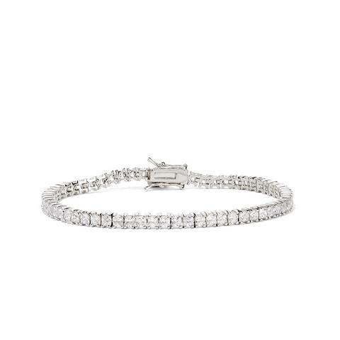 Silver-Plated Cubic Zirconia Bracelet