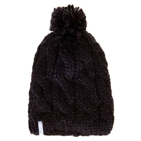 Zara Rib Knit Hat with Pom Pom