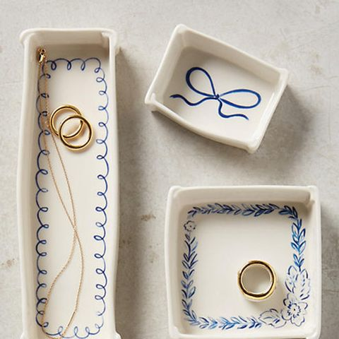 Indigo Illustration Trinket Dish