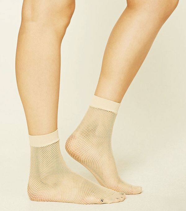 Forever 21 Fishnet Crew Socks