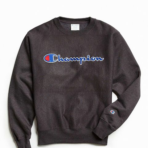 Reverse Weave Script Crew Neck Sweatshirt