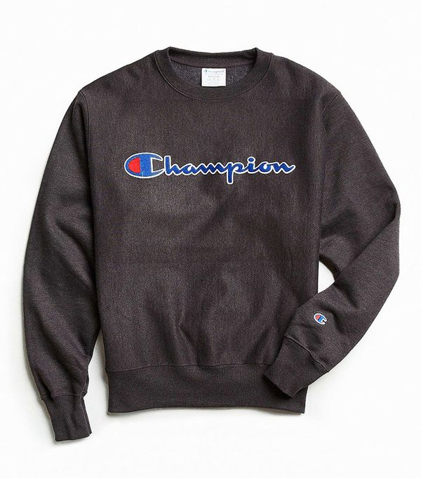 Champion Reverse Weave Script Crew Neck Sweatshirt