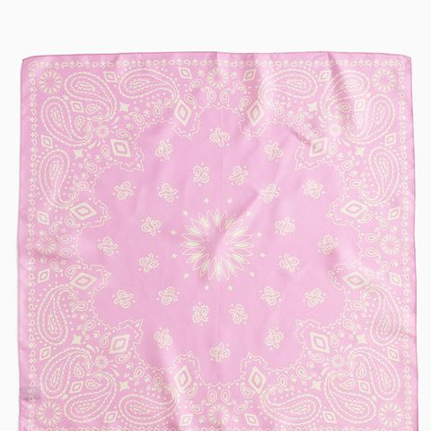 Italian Silk Square Scarf in Soft Peony Paisley Print