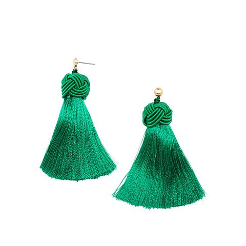 Emerald Topknot Earrings