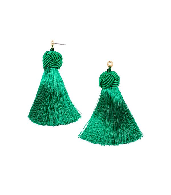 Hart Emerald Topknot Earrings