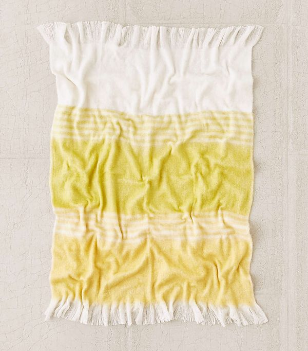 Urban Outfitters Neon Stripe Throw Blanket