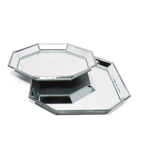Paris Mirrored Tray Set