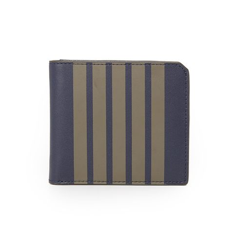 Striped Leather Vesper Wallet