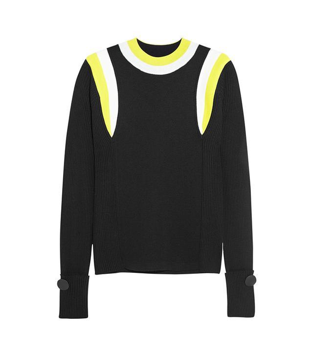 Marni Ribbed Color-Block Wool Sweater