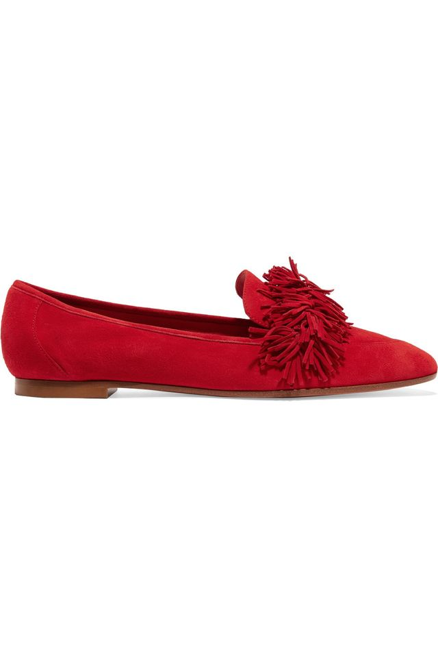 Aquazzara Wild Fringed Loafers