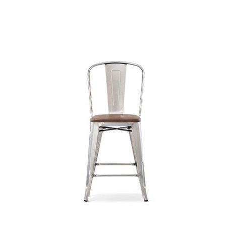 Barstool with Wood Seat