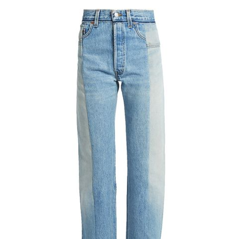 Reworked High-Rise Straight-Leg Jeans