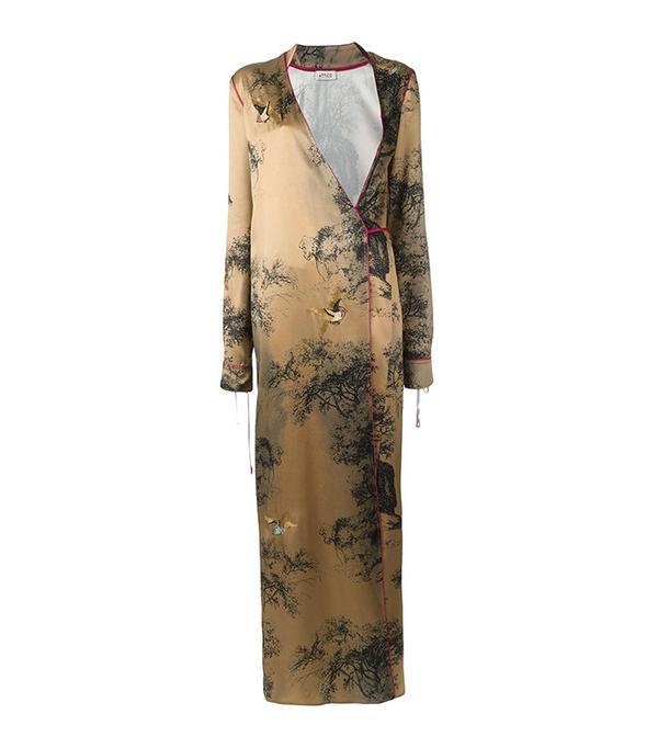 Attico V-Neck Wrap Dress