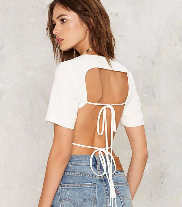 Lavish Alice Keep It Open Backless Top