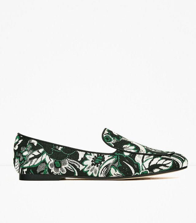 Zara Floral Print Loafers