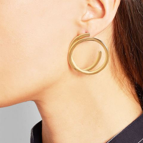 Connolly Gold-Plated Hoop Earrings
