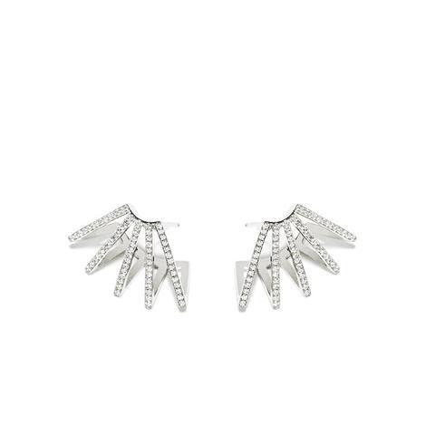 Circuit Diamond Earrings 18k White Gold