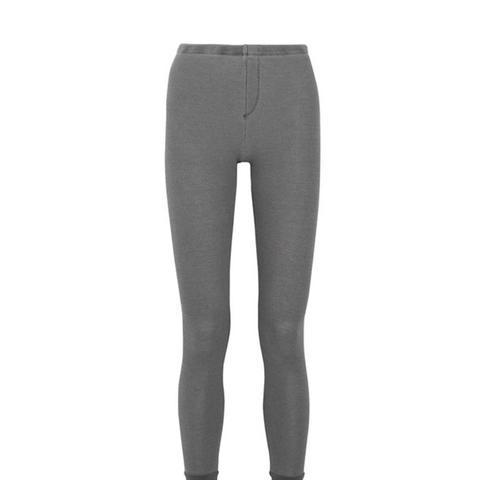 Nordic Waffle-Knit Jersey Leggings