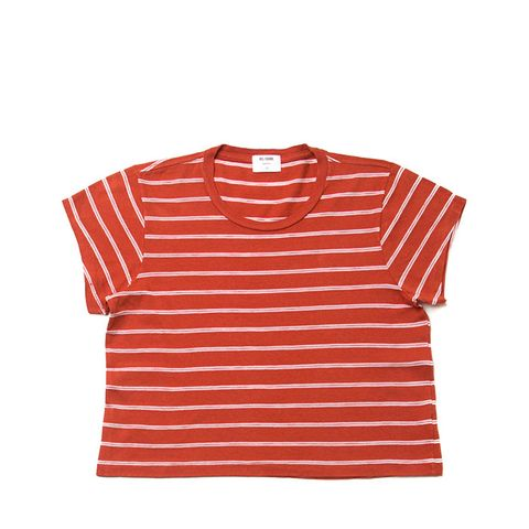 1950s Striped Boxy Cropped Tee