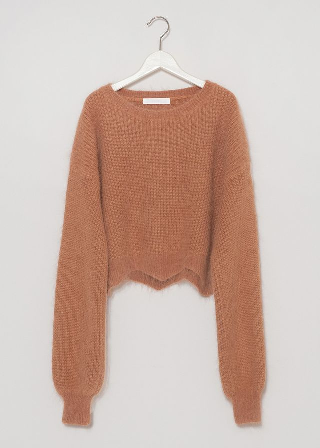 J.O.A. Camel Angora Cropped Sweater