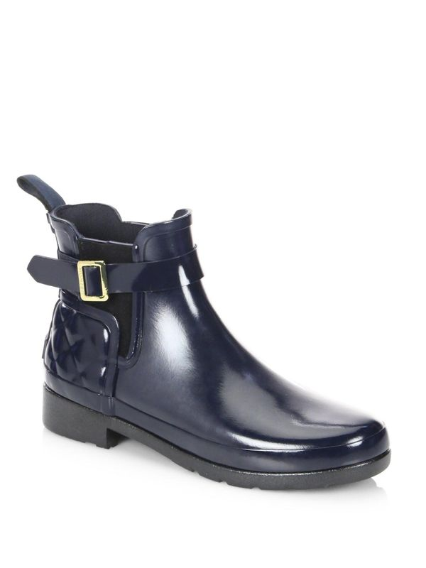 Refined Gloss Chelsea Quilted Rain Boots