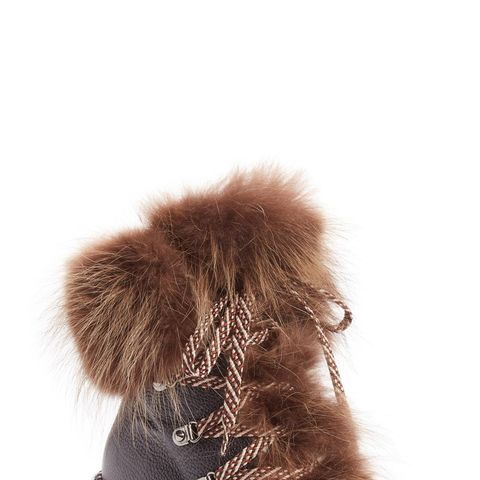 Fanny Genuine Raccoon Fur Boot