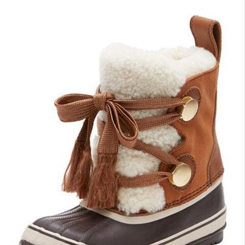 Shearling Fur-Trim Weather Boot