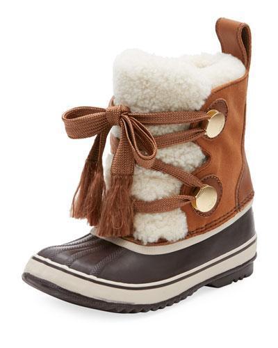 x Sorel Shearling Fur-Trim Weather Boot