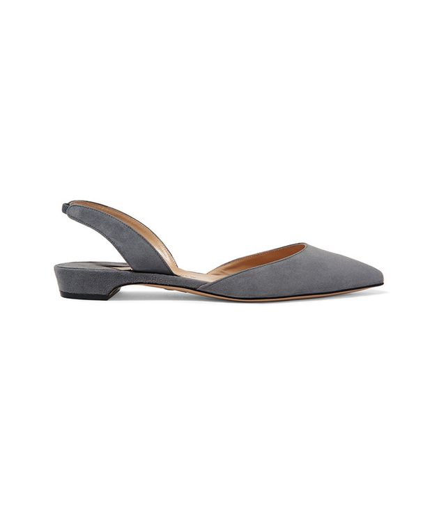 Paul Andrew Rhea Suede Point-Toe Flats