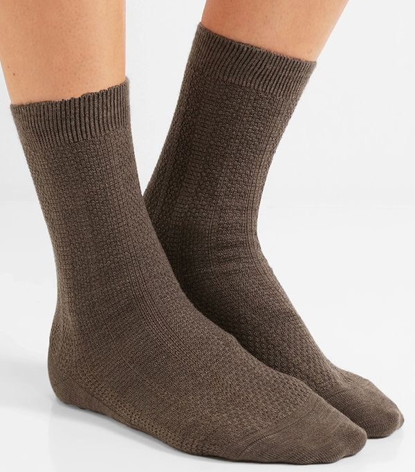 Falke Set of Two Armour Textured Wool-Blend Socks