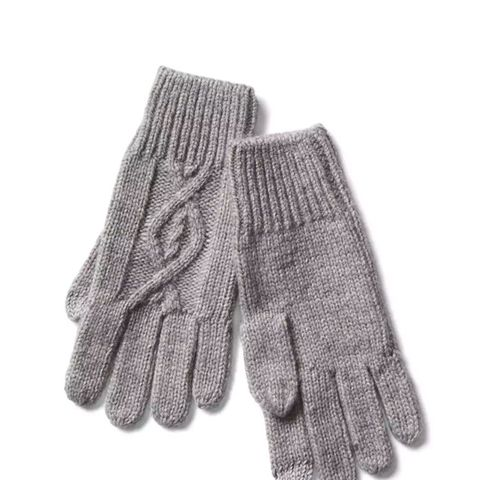 Diamond Cable Knit Tech Gloves