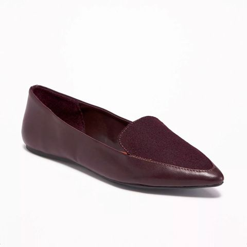Pointy Smoking Flats