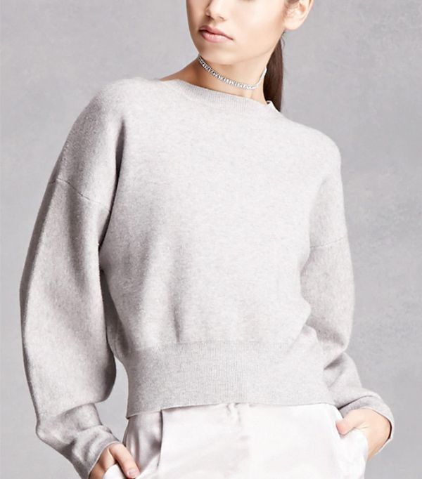 Forever 21 Boxy Heathered Knit Sweater