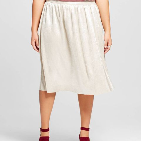 Women's Plus Size Micro Pleat Midi Skirt