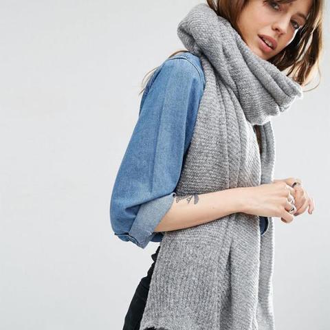 Oversize Knit Scarf