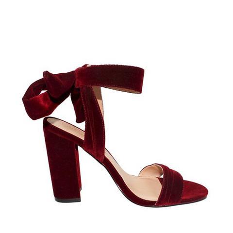 ichaela Ankle Tie Block Heels
