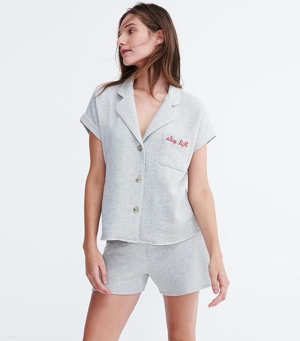 Madewell Embroidered Pajama Top