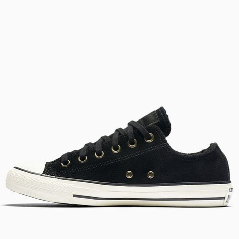 Chuck Taylor All-Star Suede and Faux Shearling Low Top Sneakers