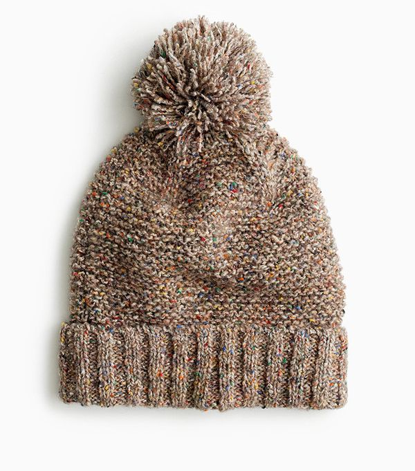J.Crew Pom-Pom Hat in Marled Italian Wool Blend