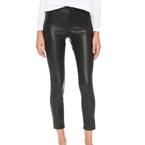 The Principle Mid Rise Vegan Leather Skinny