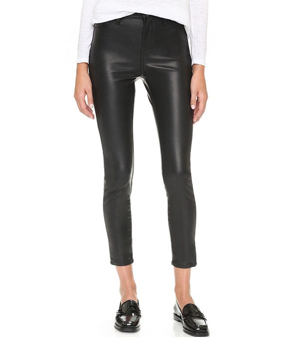 Mid Rise Vegan Leather Skinny by Blank Denim