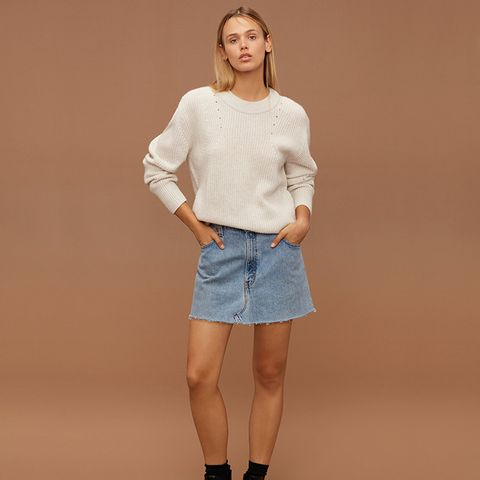 Vintage Denim Miniskirt