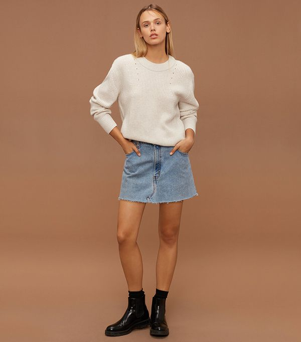 Denim miniskirt by Vintage