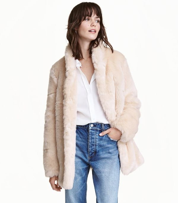 Faux Fur Jacket by H&M