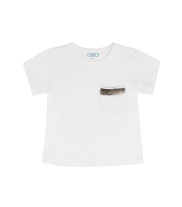 Soft Jersey Fur Pocket T-Shirt by Liana