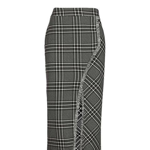 Cutabout Check Midi Skirt