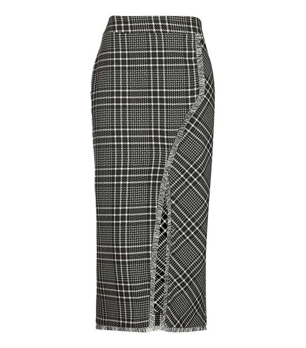 Cutabout Check Midi Skirt by Topshop