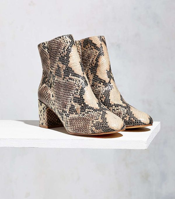 Snake Skin Ankle Boot by Urban Outfitters